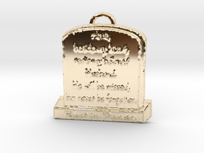 Memorial Pendant in 14k Gold Plated Brass: Large