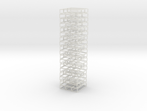 Void Jenga in White Natural Versatile Plastic