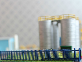 N Scale Fence 12x65mm in Frosted Ultra Detail
