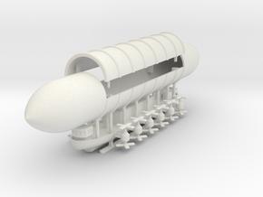 1/700 Heavy Caravel Airship in White Natural Versatile Plastic