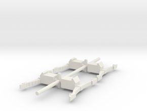 4 square axle boxes  in White Natural Versatile Plastic