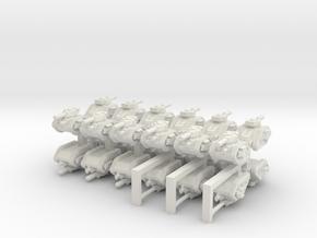3mm Imperious Guard Battle Tanks (24pcs) in White Natural Versatile Plastic