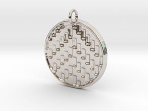 Herringbone Pendant in Rhodium Plated Brass