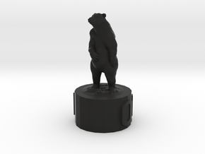 Bear Queen in Black Natural Versatile Plastic