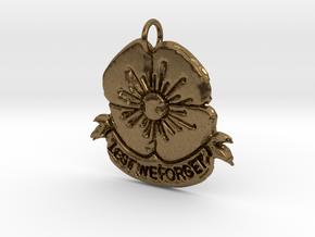 Poppy 2 Pendant in Natural Bronze