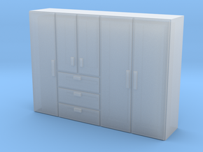 N Scale Wardrobe in Smooth Fine Detail Plastic