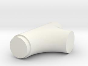 T-8 in White Natural Versatile Plastic