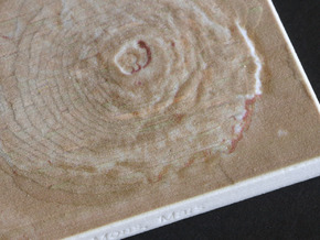 Olympus Mons, Mars, 1:10000000 in Full Color Sandstone