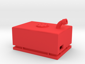 1:10 Fuel Cell / Receiver Box for RC4Wd Trailfinde in Red Processed Versatile Plastic