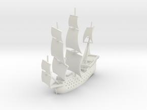 Manila Galleon in White Natural Versatile Plastic: 1:1000
