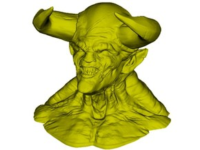 1/9 scale Devil 666 daemonic creature bust in Smooth Fine Detail Plastic