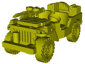 1/100 scale WWII Jeep Willys 4x4 SAS vehicle x 1 in Smooth Fine Detail Plastic