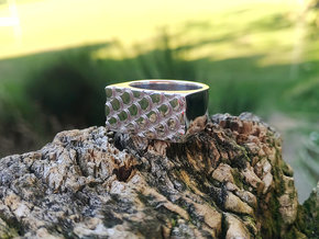 REPTILE1 PRINT in Rhodium Plated Brass: 7 / 54