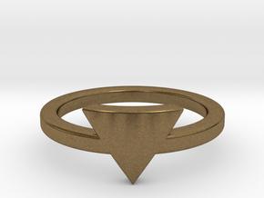 Small Triangle Midi Ring in Natural Bronze