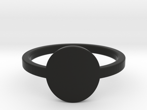 Small Circle Midi Ring in Black Natural Versatile Plastic