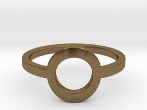 Small Offset Circle Midi Ring in Natural Bronze