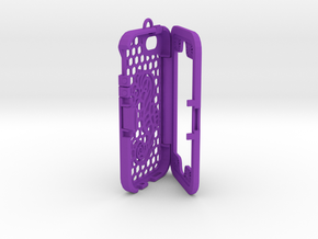 Custom designed 3D printed case for iphone 5S. in Purple Processed Versatile Plastic