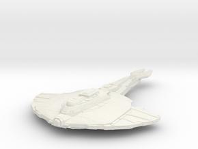 Cardassian Vetar Class  BattleCruiser in White Natural Versatile Plastic