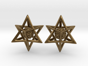 Of Interlocking Triangles and Spheres in Natural Bronze (Interlocking Parts)