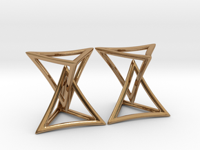 Changing Geometry Earrings in Polished Brass (Interlocking Parts)