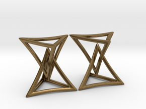 Changing Geometry Earrings in Natural Bronze (Interlocking Parts)