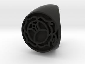 Utena Signet Ring Size 8.5  in Black Natural Versatile Plastic