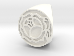 Utena Ring Size 7 in White Processed Versatile Plastic