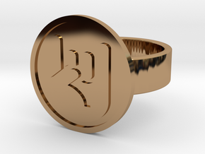 Rock On Ring in Polished Brass: 10 / 61.5
