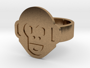 Monkey Ring in Natural Brass: 9 / 59