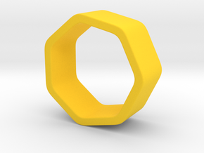 Poly7 Ring in Yellow Processed Versatile Plastic: 5 / 49