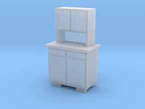 H0 Cupboard 2 Doors A - 1:87 in Smooth Fine Detail Plastic