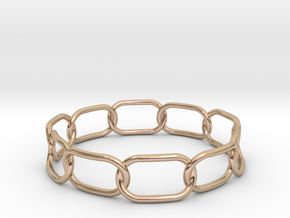 Chained Bracelet 72 in 14k Rose Gold Plated
