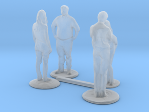 HO Scale People Standing 2 in Smooth Fine Detail Plastic