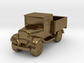 Old Pickup Truck Game Token in Natural Bronze
