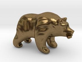 Bear Game Token in Natural Bronze