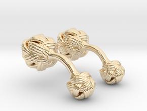 Algerian Knot Cufflink in 14k Gold Plated Brass