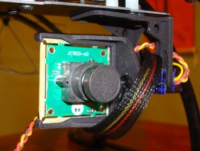 FPV Cam Mount V2 in White Strong & Flexible