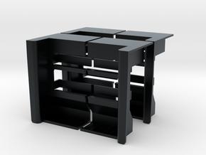 "ST0007 2 Well Steps, Pattern ""D"" 1/87.1 in Black Hi-Def Acrylate"
