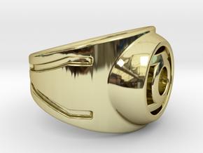 Green Lantern Ring in 18k Gold Plated Brass: 9 / 59