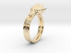 Dragon Ring (Size 8) in 14K Yellow Gold