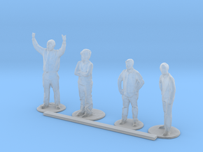 HO Scale Standing People 3  in Smooth Fine Detail Plastic