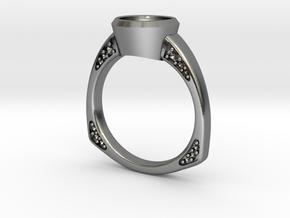 Engagement / Wedding ring RS000200002 in Polished Silver: 12 / 66.5