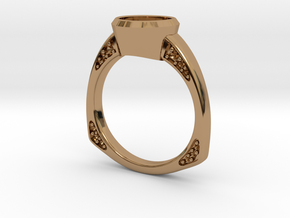 Engagement / Wedding ring RS000200002 in Polished Brass: 12 / 66.5