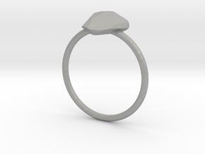 Ice Heart Ring in Aluminum