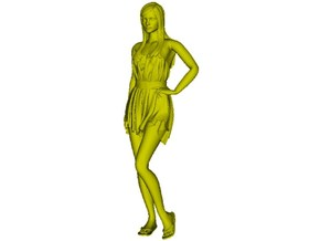 1/35 scale dressed beach girl posing figure A in Smooth Fine Detail Plastic