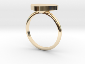 Heart Ring in 14k Gold Plated Brass