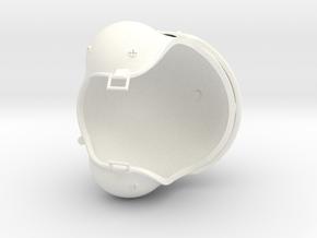1.4 CASQUE PILOTE COBRA (PART 2) in White Processed Versatile Plastic