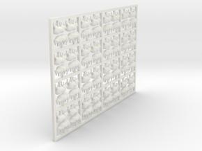 HO Sheep - Grazing X 64 in White Natural Versatile Plastic