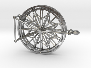 Rotating Ferris Wheel Star Keepsake Charm in Interlocking Raw Silver