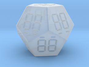 7 Segment Style D12 Die in Smooth Fine Detail Plastic